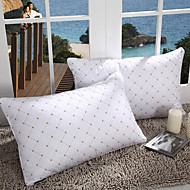 100% Cotton Geometric Branco Pillow Bed