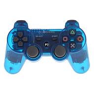 goigame spel draadloze bluetooth controller voor ps3 pc (doorzichtig blauw)