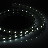 PCB Waterprooft 1M 9W 60x5050SMD 650-710LM bílé světlo LED Strip světlo s Plug (220-240V)