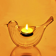 "6 ""Glass Bird Style Candle Votive"