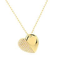 Heart Shape Gold with Chain Flash Drive 8G