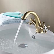 Personalized Bathroom Sink Faucet Antique Copper Double Handles