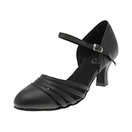 Women's Dance Shoes Modern Leatherette Flared Heel Black