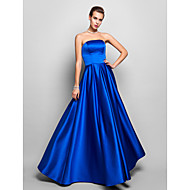 TS Couture Formal Evening / Prom / Military Ball Dress - Royal Blue Plus Sizes / Petite A-line Strapless Floor-length Satin