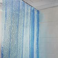 """Shower Curtain Modern Blue Water Cube Print Environmental W79"""" x L71"""""""
