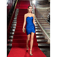 Homecoming Cocktail Party/Holiday Dress - Royal Blue Plus Sizes Sheath/Column Sweetheart Short/Mini Jersey
