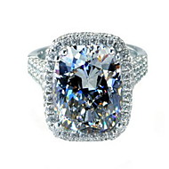 8 Carat Princess SONA Crystal Diamond Ring For Women 925 Silver Gold Plated Wedding Band