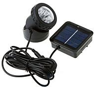 6-LED de luz branca LED luz solar à prova d'água do jardim ao ar livre Flood Lamp