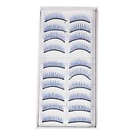10Pcs False Eyelashes(Blue)