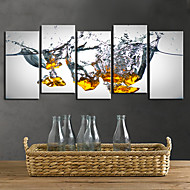 Stretched Canvas Print Art Abstract Droping Set of 5