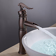 Personalized Bathroom Sink Faucet Vintage Centerset Antique Copper Finish Single Handle Brass