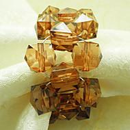 גביש חרוזים חתונת מפיות טבעת הסט של 12, 4.5cm אקריליק Dia