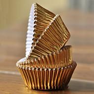Gold-Aluminiumfolie-Kuchen-Verpackungen - Satz von 100
