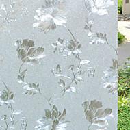 Země květinová květy vzor okenní fólie