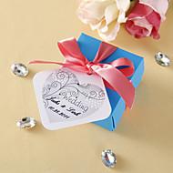 personalizado etiquetas favor - flor vivacious (conjunto de 36)