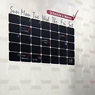 Blackboard Wall Sticker, Removable,Black Cubes Calendar