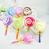 Lollipop Shaped Towel - Set of 6 (Random Color)