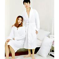 Župan, froté 100% Bavlna White Solid Colour oděv zahustíme
