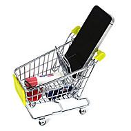 Criativas aleatórias Cores Mini Compras rack carrinho de armazenamento