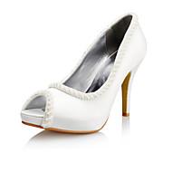 Satin Women's Wedding Stiletto Heel Peep Toe Sandals