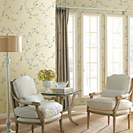 Country Floral Wintersweet Non-woven Wall Paper