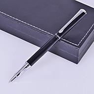 Gepersonaliseerde Gift Zaken Style Black Metal Gegraveerde Ink Pen