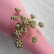 Perles florales de mariage Serviette Set Of 6, Perles de verre Dia 4.5cm