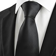 för män klassiska randiga svart formell slipsen