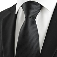 Men's Classic Striped Black Formal Necktie