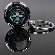 Személyre szabott gravírozott ajándéktárgyak Compass alakú Lover kulcstartó