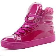 Patent Leather Women Fashion Shoes Fluorescent Color  Sneakers