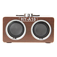 Wooden Mini Stereo Music MP3 Player Loud Speaker Support TF Card USB FM Radio (HY-A16)