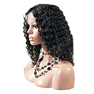 "16"" African American Kinky Curly Front Lace Wig"