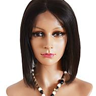 Боб Стиль Короткий прямой Мода Индийский Девы человеческих волос полный парик шнурка
