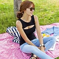 Sexy Cut Out scollatura 100% T-shirt in cotone da donna