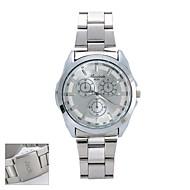 Personalizované Dárkové New Style Pánské White Dial Stainless Steel kapela dodavatelských smluv  Analogové vyryto hodinky