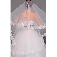 Tier One Wedding Chapel Veil Avec Applique bord