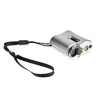 9592 60X Mini opsporen van valuta-/ Sieraden LED Verlichte Microscoop w - Zwart + Zilver