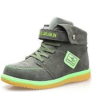 dw Kinder Samt High-Top Sneaker Mode warme Schnee Knöchel Jungen Stiefel (Armee grün)