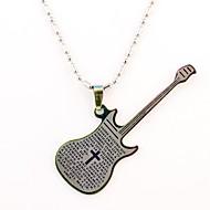 Personalizované dárky a kytara tvaru ryté náhrdelník (různé barvy)