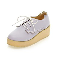 Women's Wedge Heel Creepers Oxfords with Lace-up Shoes(More Colors)