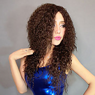 100% Kanekalon-Kunst Fluffy Schraube Brown Curly Perücke
