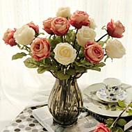 "18""H European Rose + Glass Vase"