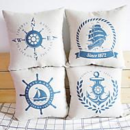 Conjunto de 4 capas clássico Maritime Greenwich almofada decorativa
