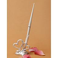 dobbel hjerter bryllup penn satt i harpiks tegn i boken