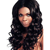 18 tommer Brazilian Remy Hair bølgete Middle Part blonder foran parykk med baby Hair