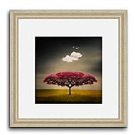 Dreaming Tree Landscape Framed Canvas Print