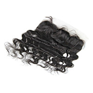"""20"""" Brazilian Hair Silky Body Wave Lace Frontal(13""""*4"""") Natural Color"""