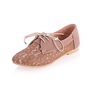 Tulle Kvinders Flat Heel Comfort Oxfords Med Snøresko (flere farver)