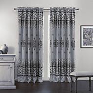 (Two Panels) Classic Variety of Geometric Patterns Room darkening Curtain